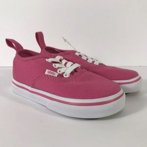Vans Authentic Elastic Hot Pink White Sneakers
